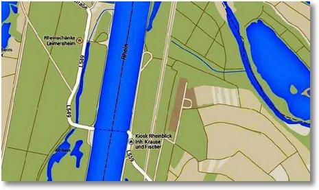 2014 04 26 Karte Fähre Eggenstein-Leopoldshafen