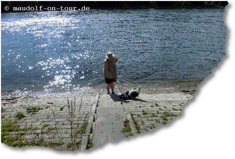 2014 06 06 Leopoldshafen Lissy im Wasser