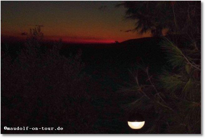 2014 09 22 Kovacine 08 Abendrot um 19 37 Uhr