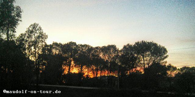 2015-11-18 Barragem do Arade Sonnenuntergang