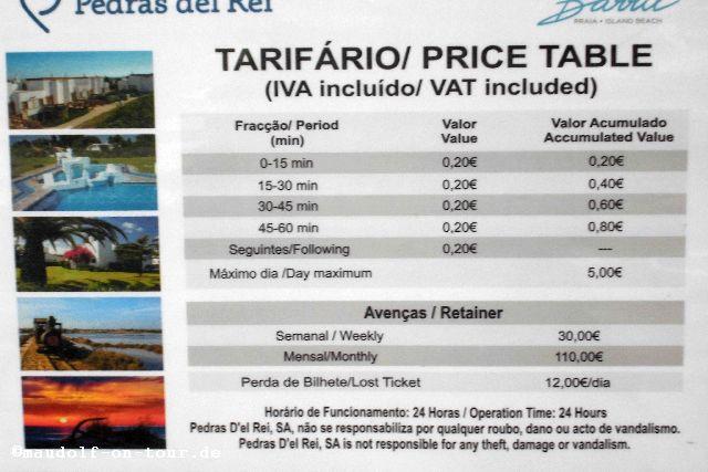 2015-12-08 Parkplatz Pedras del Rei Kosten 1