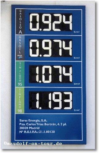 2016-01-16 Benzinpreise in E