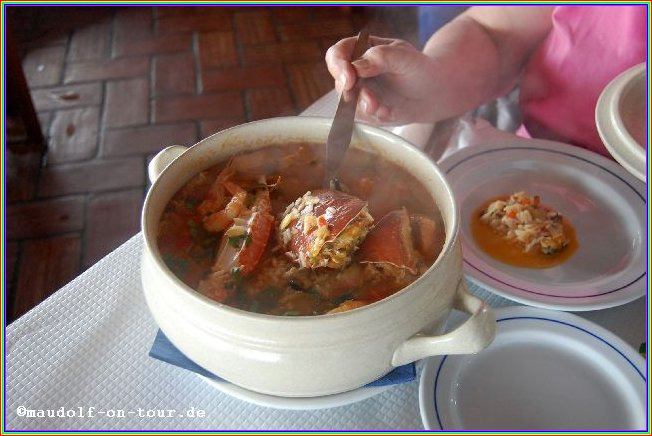 2016-01-28 Restaurante Sitio Do Forno Meeresfrüchte mit Reis 2