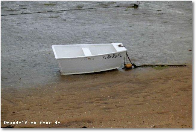 2016-02-13 Lagune bei Fabrica kleines Boot 1