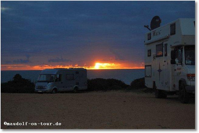 2016-02-25 Playa del Puerco bei Cabo Roche Sonnenuntergang 1
