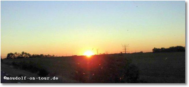 2016-10-06 Sonnenuntergang Nähe Châteauroux
