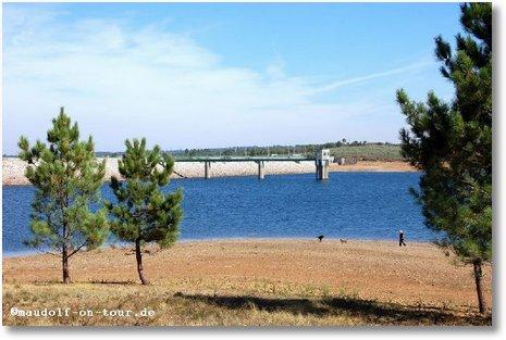 2016-10-11 Sicht auf den Stausee bei Sabugal