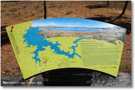 2016-10-11 Uebersichtskarte vom See bei Sabugal
