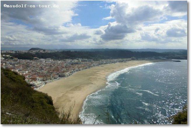 2016-10-22 Nazare Blick auf Strand 1