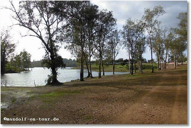 2017-02-05 Minas de Sao Domingos Parkplatz am See 2
