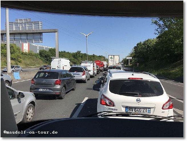 2017-04-20 Stau Autobahn Bordeaux