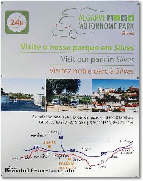 2017-11-18 Motorhome Park Falesia Schild