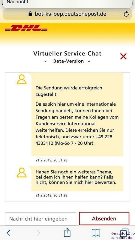 2019-02-21 DHL Virtueller Chat