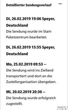 2019-02-26 DHL Rücklauf Speyer