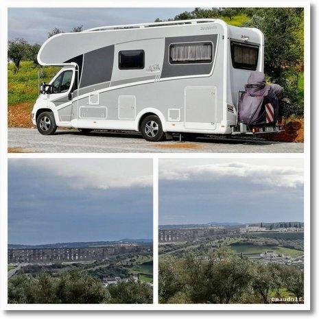 2020-02-25 Parkplatz mit Sicht auf Elvas