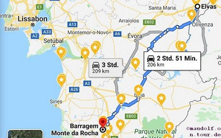 2020-02-25 Route Monte da Rocha bis Elvas