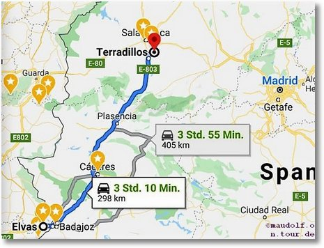 2020-02-26 Route Elvas bis Terradillos Salamanca