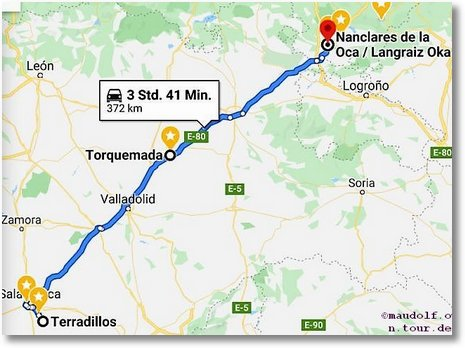 2020-02-27 Route Terradillos bis Torquemada bis Langraiz Etorbidea
