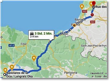 2020-02-28 Route Langraiz Etorbidea nach Sand-Geours-de-Maremne